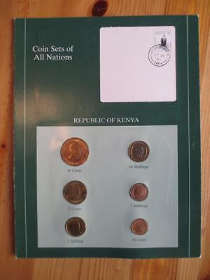 ~ 1995 Kenya Coin Sets Of All Nations & Stamp On Descriptive Page (AS77)