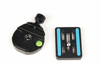 Metal Clamp & Quick Release Plate for  Arca-Swiss Tripod BallHead works with RRS
