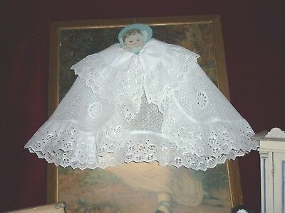 Pretty Antique/Vintage Baby Cape Whitework Inserts & Borders.