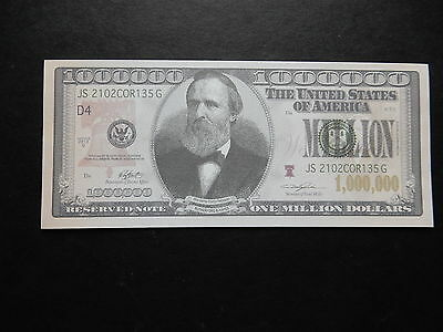 x1 $1,000,000 USA Banknotes Bills USA Bank Note One 1 Million American Dollars