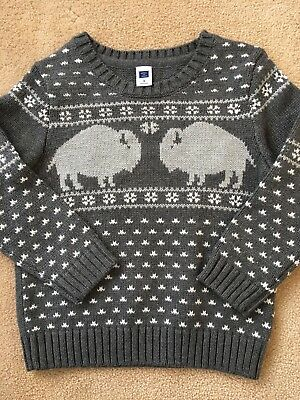 JANIE & JACK Gray with Design on front Boys Sweater Size 3