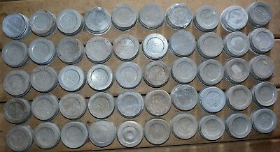 Old VTG Lot of 50 Zinc Canning Lids Mason Jar Regular Size Nice Age Character