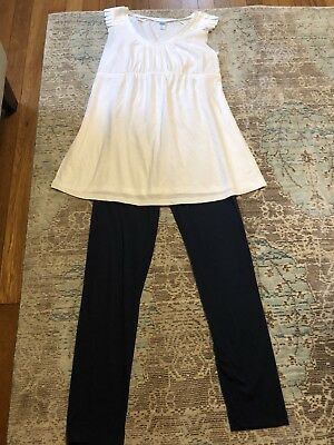 EUC Maternity Lot Small Old Navy NWOT Tank Tunic, Med Navy Motherhood Leggings