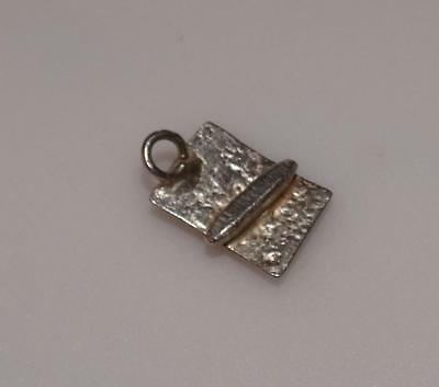Vintage Japanese sushi roll on plate Asian oriental  Sterling Silver Charm #22E