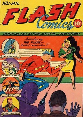 Flash Comics #1 (1940) Photocopy Comic Book - Flash Jay Garrick 1St App Intro