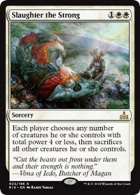 x1 Slaughter the Strong MTG Rivals of Ixalan M/NM, English