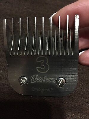 OSTER CryogenX 3 Clipper Blade.  Fits Andis,Laube,Conair  Pet Grooming clippers