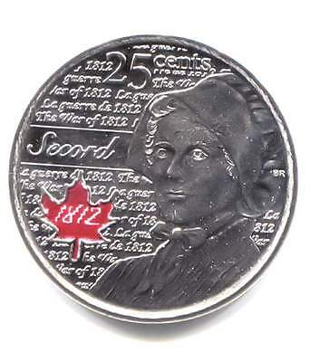 2013 Laura Secord Red Maple Uncirculated Canadian 25 Cent Coin - Canada Quarter