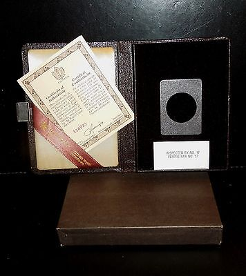 1980 Canada Coin Case $100 gold RCM 1/2oz COA & Box Only: Arctic Territory 27mm