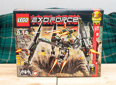 LEGO Lot of 8 Exo Force boxed sets, all NEW, 7707 Striking Venom 8112 8117 etc.