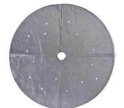 NEW! Frontgate Christmas Starry Night 60 in Lighted Grey Tree Skirt & Runner