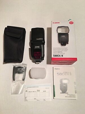 !!! CANON SPEEDLITE 580EX II with SOFT COVER and POUCH !!!