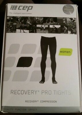 CEP Recovery+ Pro Tights Compression Bottom Pants Women size II black - new NIB