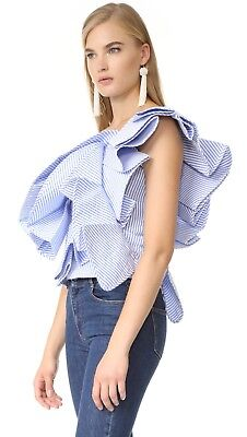 Stylekeepers Chic in the City Ruffle Top Sz Small S NEW
