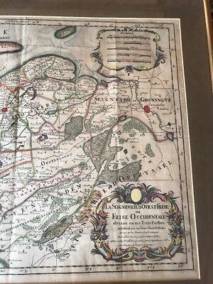 ANTIQUE 1709 map Europe Friesland by ANATOLIA. SANSON Guillaume/ Chez H. Iaillot