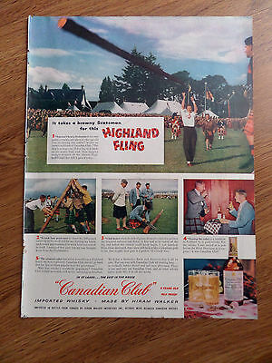 1954 Canadian Club Whiskey Ad Scotsman Aboyne Highland