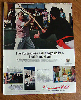 1965 Canadian Club Whiskey Ad The Portuguese Call it Jogo do Pau