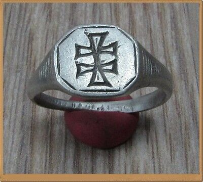 Ancient Silver Byzantine  Ring **DOUBLE CROSS ** VERY RARE**