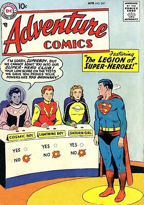 Adventure Comics #247 (1958) Photocopy Comic - Legion Of Super-Heroes 1St App