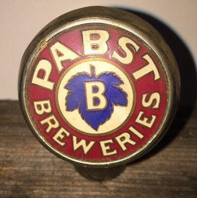Pabst Blue Ribbon Milwaukee Wisconsin Sign Can  Beer Brewery Ball Knob Tap