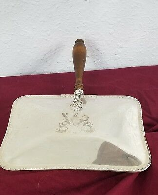 "Antique Silver Plated F. B. Rogers Ash Box/Catcher Inscribed ""MAJOR AB ADVERSIS"""