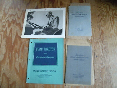 1930's/40's Ford Ferguson Tractor Manuals with Vintage Picture of Henry Ford