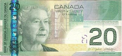 Canada. Canadian Currency, Paper Money, Bank Note 20 Dollars 2004