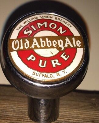William Simon Brewery Buffalo New York Old AbbegAle Beer Brewery Ball Knob Tap