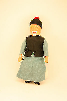 1930s VINTAGE CHINESE MICHAEL LEE CHARACTER DOLL - ORIGINAL TAG, BOX