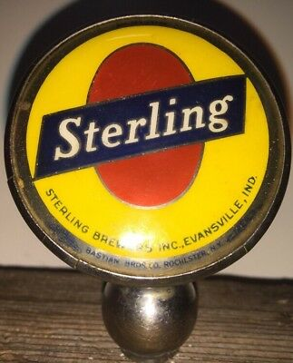Sterling Brewers Inc  Evansville  Indiana Sign Can  Beer Brewery Ball Knob Tap