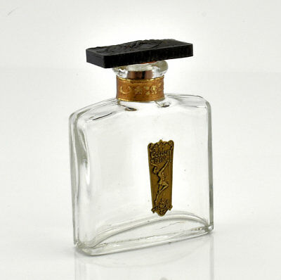 Art Deco Golden Petals Commercial Perfume Bottle With Dancing Nymph