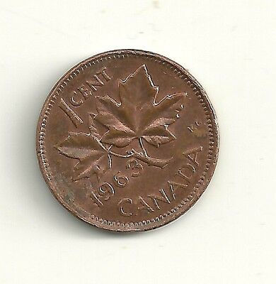 1963 Canada One Cent Coin
