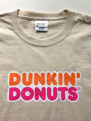 DUNKIN' DONUTS Long Sleeve T Shirt America's Iced Coffee Now in a Bottle Size XL