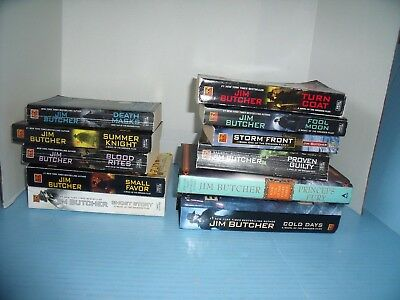 Lot Of 11 Jim Butcher Dresden Codex*blood Rites*cold Days*storm Front*fool Moon