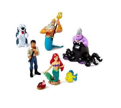 New Disney The Little Mermaid Ariel Cake Toppers Play Set Figures 7 Piece Lot