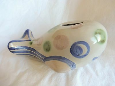 M. Hadley Whale Bank Pottery Made in USA