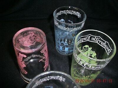 Welches Jelly  Glasses Howdy Doody Doodyville 4 glasses 6oz. 1950's TV Classic!
