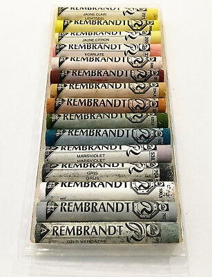 Rembrandt Soft Pastels 15 Mixed Colours And Shades  Full Sticks.  Lot 134.