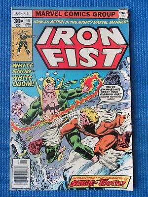 Iron Fist # 14 - (Nm-) - 1St Appearance Of Sabre-Tooth - Snow-Blind