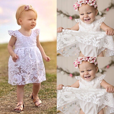 Summer Newborn Baby Girls Lace Romper Jumpsuit Dress Outfits Clothes AU Stock