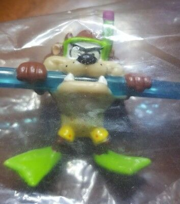 LOONEY TUNES TAZ Sipper Crazy Straw Applause 1992 NEW IN BAG