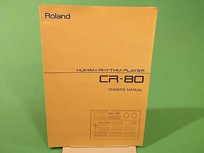 Vintage 1991 Roland CR80 Human Rhythm Player Owner's Manual BRAND NEW