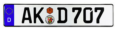 Altenkirchen German Euro License Plate by Z Plates