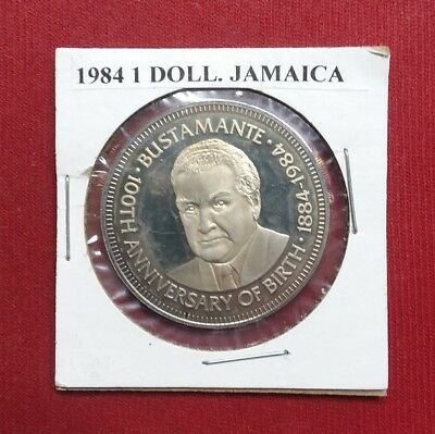 Very Rare Jamaica Dollar, 1984, Proof, Only 284 Minted, Extremely Low Mintage