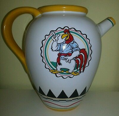 Warner Brothers Chicken FOGHORN J. LEGHORN Water Pitcher Jug 1992 Vintage