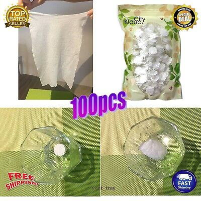 100 PK Travel Magic Compressed Towels Camping & Hiking Survival Emergency Gear
