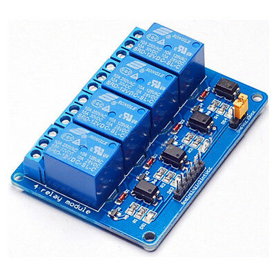 T8 4-way 12v relay module expansion board with optocoupler isolation led light X