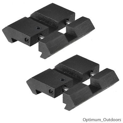 Snap in Rail Adapters 11mm Dovetail to 20mm Weaver Picatinny Converter Mount UK