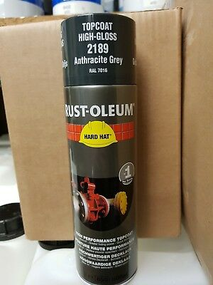 Rustoleum Hard Hat Aerosol Spray Paint 500ml RAL7016 Anthracite Grey RAL 7016