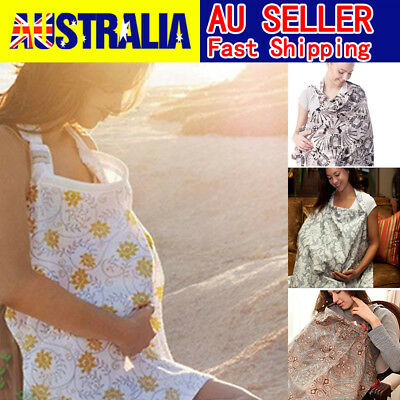 3 in 1 Baby Breastfeeding Nursing Cover Maternity Generous Blanket 100% Cotton